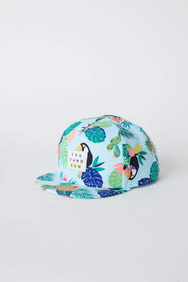 H&M Cap with Glittery Visor - Turquoise