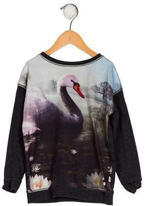 Molo Girls' Printed Long Sleeve Sweatshirt