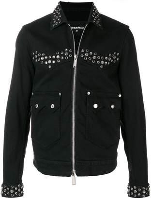 DSQUARED2 studded denim jacket