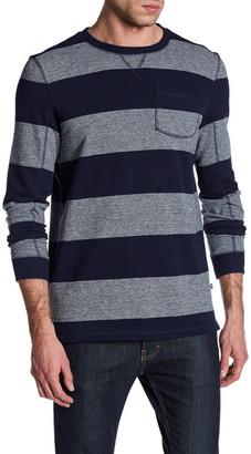 Indigo Star Coda Long Sleeve French Terry Stripe Sweater $64.75 thestylecure.com