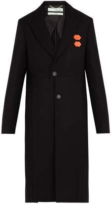 Off-White Single-breasted wool-blend overcoat