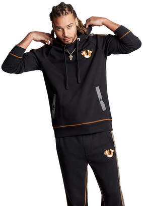 True Religion CONTRAST PATCH PULLOVER HOODIE