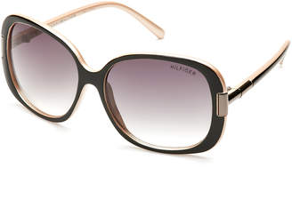 Tommy Hilfiger Black Janet XL Square Sunglasses