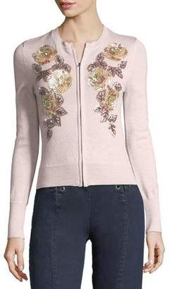 Nanette Lepore Cha Cha Floral-Embellishment Cardigan