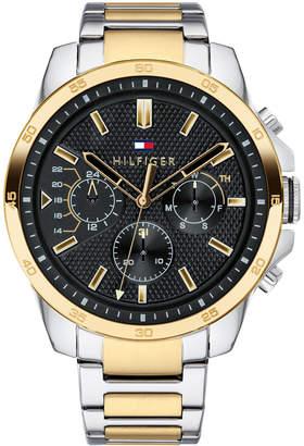 Tommy Hilfiger Men's Two-Tone Stainless Steel Bracelet Watch 46mm