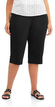 Just My Size Women's Plus Size Pull On Bling Capri