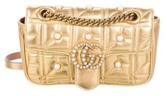 Gucci Faux Pearl Marmont Matelassé Bag