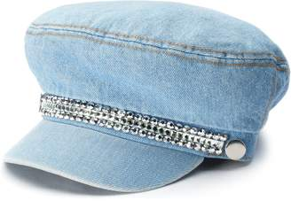 Mudd Women's Rhinestone Accent Denim Cabbie Hat