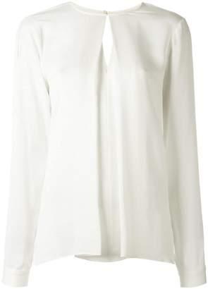 MICHAEL Michael Kors pleated front blouse
