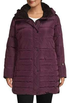 Rachel Roy Plus Hooded Quilted Puffer Jacket
