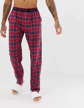 Ben Sherman woven lounge pants in check