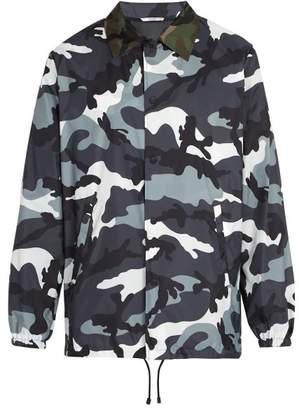 Valentino Camouflage Jacket - Mens - Grey