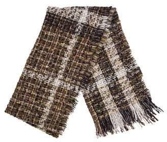 Burberry Wool-Blend Fringe Scarf