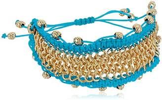 Sam Edelman Chainmail Macrame White Bracelet