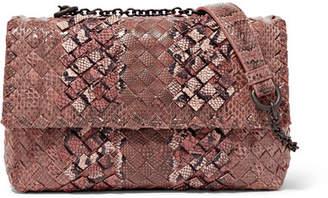 Bottega Veneta Olimpia Baby Intrecciato Ayers And Karung Shoulder Bag - Light brown