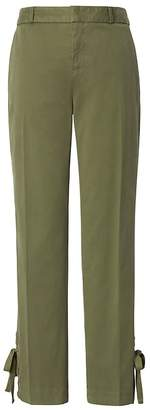 Banana Republic Petite Avery Straight-Fit Lace-Up Hem Ankle Pant