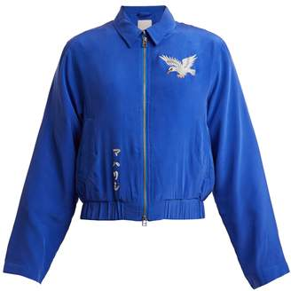 MHI Eagle-embroidered silk jacket