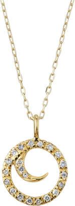 Sydney Evan 14k Round Diamond Swirl Pendant Necklace