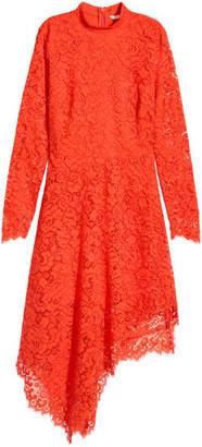 H&M Asymmetric Lace Dress - Orange