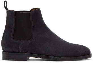 Lanvin Grey Suede Chelsea Boots