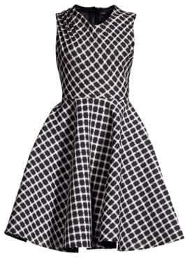 Maje Crease Shoulder Fit-&-Flare Dress