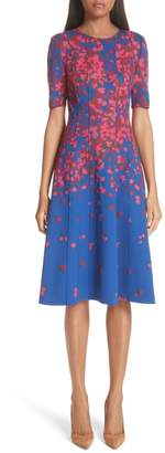 Carolina Herrera Knit Floral Print Dress