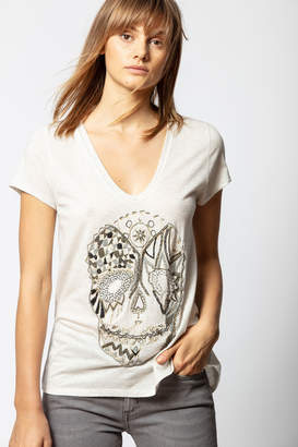 Zadig & Voltaire Tiny Canetille Skull T-shirt