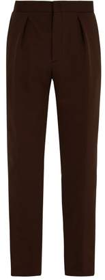 Fendi Logo Jacquard Cotton Blend Track Pants - Mens - Brown