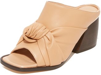 Helmut Lang Knotted Mules $565 thestylecure.com
