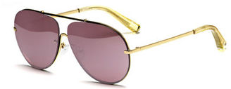 Elizabeth and James Ryder Mirrored Aviator Sunglasses $225 thestylecure.com
