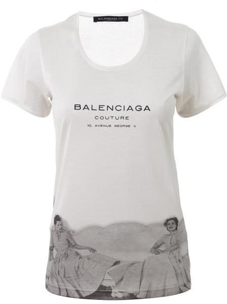BALENCIAGA - Vintage motif T-shirt
