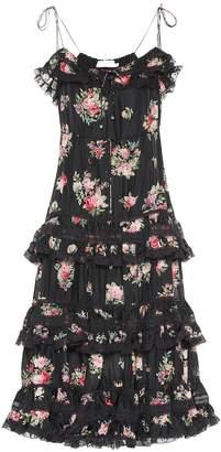 Zimmermann Honour floral silk midi dress