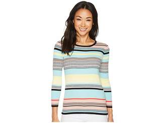 Vince Camuto Long Sleeve Color Blocked Ribbed Sweater Women's Sweater