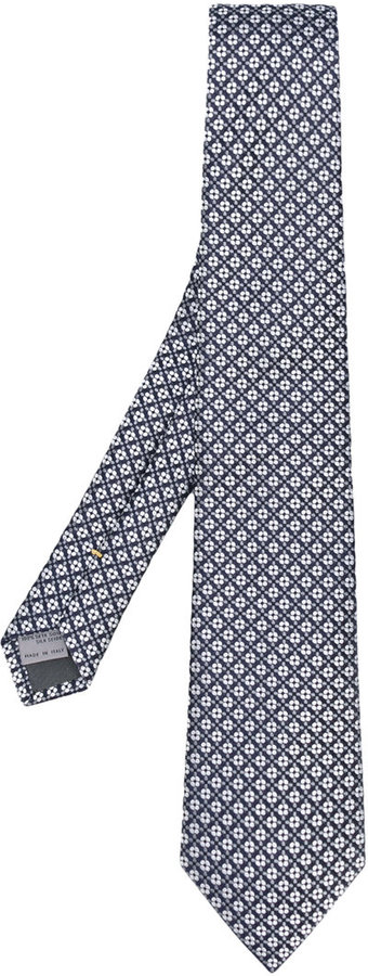 CanaliCanali flower weave tie