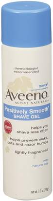 Aveeno Positively Smooth Shave Gel, 198g (Pack of 6)