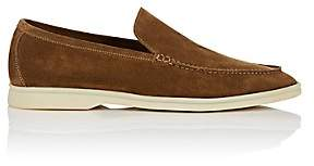 Loro Piana Men's Summer Walk Suede Loafers-Beige, Tan