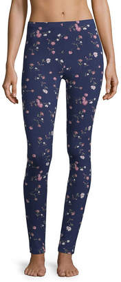 Flirtitude Floral Jersey Leggings-Juniors