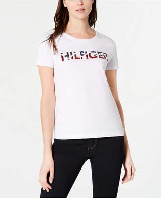 Tommy Hilfiger Cotton Sequin Logo T-Shirt
