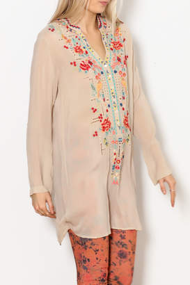 Johnny Was Eyelet Garden Tunic