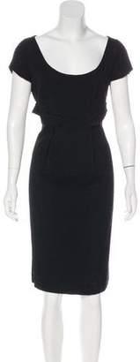 Valentino Textured Knee-Length Dress