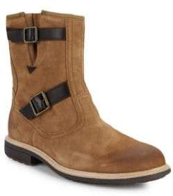 UGG Shearling Lined Suede Moto Boots