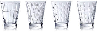 Villeroy & Boch Dressed Up Assorted Clear Tumblers, Set of 4