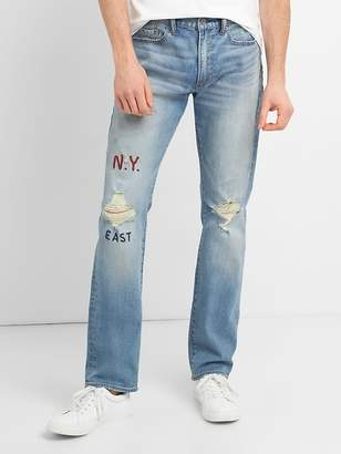 Gap Distressed Jeans in Slim Fit with GapFlex