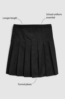 Next Girls Black Longer Length Pleat Skirt (3-16yrs) - Black