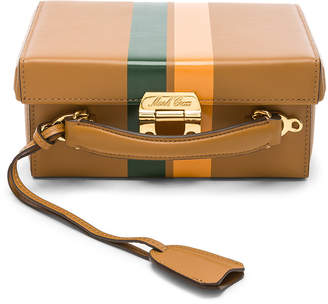 Mark Cross Small Smooth Calf Stripe Grace Box Bag in Luggage, Leaf Green & Butternut | FWRD