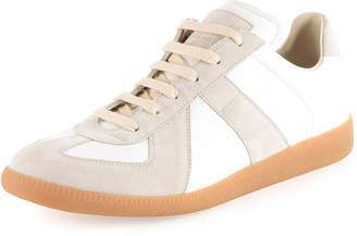 Maison Margiela Men's Replica Leather & Suede Low-Top Sneakers