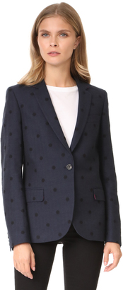 Paul Smith Herringbone Polka Dot Blazer $550 thestylecure.com