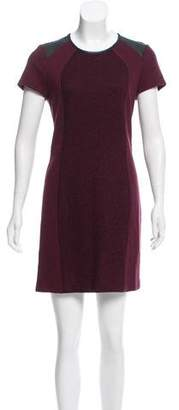 Gerard Darel Faux Leather-Trimmed Mini Dress