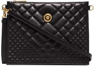 Versace black Medusa quilted leather clutch bag c8eb2026167ec