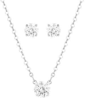 Swarovski Silver Tone Crystal Attract Jewellery Set